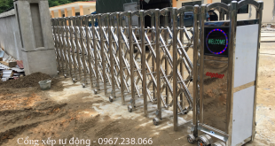 Cổng xếp tự động lắp đặt tại nhà máy