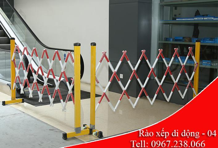 hàng rào xếp di động composit