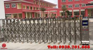 cổng xếp inox 304