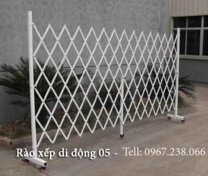 Hàng rào xếp di động sắt