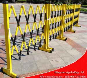 hàng rào xếp di động