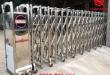cổng xếp inox 304 lắp đặt tại công ty Hoàng Hải Feans
