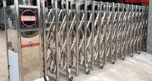 báo giá cổng xếp inox tại hà nội 2019